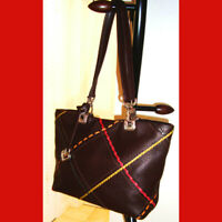 Brighton Collection Leather Tote Bag Chocolate