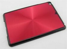 Brushed Aluminium Case Cover Hard Back Shell for Apple iPad Mini, Mini 2 - Red