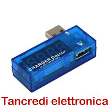 USB TESTER Voltmetro Amperometro Tensione Corrente 5V - 2,5A pc cellulare tablet