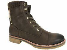Tommy Hilfiger Women's Omar Lace-Up Booties Brown Size 8.5 M