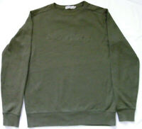 Calvin Klein Jeans Mens Sweatshirt Top Jumper Long Sleeves Green Size M