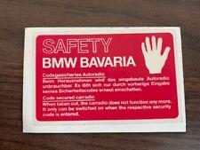 original BMW BAVARIA Safety Aufkleber Sticker rot