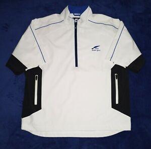 "FootJoy DRYJOY'S wind rain 1/2 zip jacket Men's Size L Navy black & white ""MINT"""