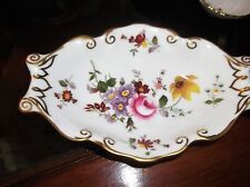 ELEGANT GILDED OVAL TAB END PIN DISH ROYAL CROWN DERBY POSIES LXI 5.5""