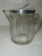 McKee Glass Grand Silver Co Clear Syrup Pitcher 1952