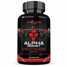 Alpha Boost Extra Strength Testosterone Booster 60caps Natural Endurance Stamina