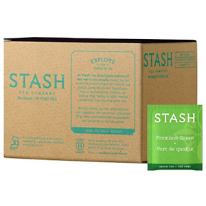 Stash Tea Premium Green Tea, Box of 100 Tea Bags