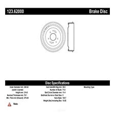 Brake Drum-SS Rear,Front Centric 123.62000