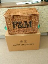 fortnum and mason extra  large wicker hamper basket storage /coffee table etc.