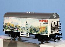 Marklin Wagon couvert à essieux Publicité MARKLIN CLUB 1999