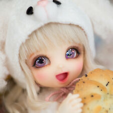 BJD BB Cute PongPong Doll With Free Eyes For Baby Girl 1/8 BJD Bebe Toddler Gift