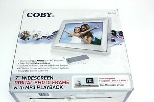 """Coby  7"""" widescreen digital photo frame DP-769 with MP3 Playback"""