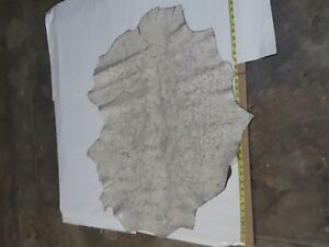 Italian Top quality Lambskin leather hide Off White  Cracked - 6 Sq.Ft # 1370