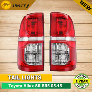 For Toyota Hilux SR SR5 2005-2015 A Pair of Tail Lights LH+RH Rear Lamps