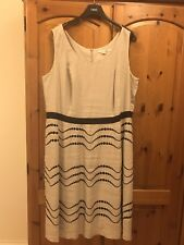 Ladies Boden Dress UK 20 L 100% Linen Cream Sleeveless Plus Size Lined