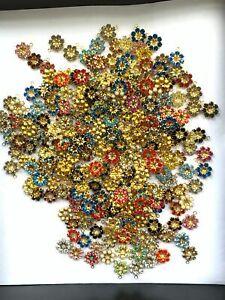 T065 - 200 Set w/Swarovski Stones - 1-Eye Pendants Jackets  10mm - Lots of Color