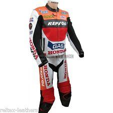 FIREBLADE CBR REPSOL GAS REP Motorcycle CE Leather Biker Jacket & Pant 2Pc SUIT