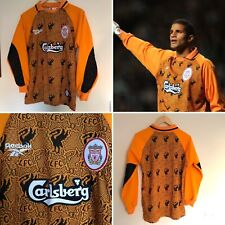 LIVERPOOL Youth Vintage Reebok Goalkeeper Home Football Shirt Jersey 1996/97