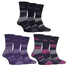 Storm Bloc - 3 Pack Ladies Striped Anti Blister Cotton Summer Walking Boot Socks