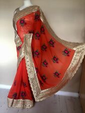 2017 Indian miroir travail Asian Bridal Designer Georget Saree/Sari robe + chemisier