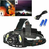 Hell 90000LM 3X T6 CREE LED stirnlampe USB SCHEINWERFER KOPF FACKEL TASCHENLAMP