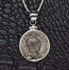 Alexander Severus Authentic Roman Silver Denarius Coin Sterling Silver Necklace