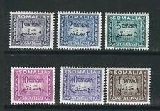 Italy Somalia Stamps J55-60 Complete 6 values MNH VF 1950 SCV $57.00