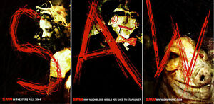 Saw (2004) Set of 3 Movie Posters Advance, Original, SS, Unused, NM, Rolled