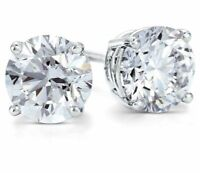.66 ct. White Sapphire Round Stud Earrings ~ Solid Sterling Silver ~ Gift box