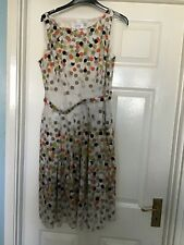 Cotton Sleeveless Spot Sun Dress Size 12 Petite Collection Debenhams Fit & Flare