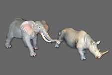 Soft Foam Rubber Stuffed Realistic African Elephant Rhino Rhinoceros Animal Toys