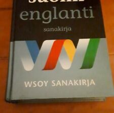 Finnish - English Dictionary WSOY SANAKIRJA OPEN TO OFFERS