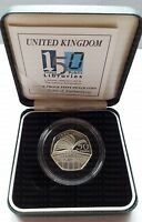 2000 Silver Proof Coin 150 years Public  Libraries Fifty Pence Commemorative 50p