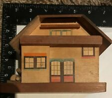 Vintage Wooden Coin Bank House Made in Japan