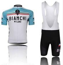 Completo ciclismo Estivo MTB BIKE MAGLIA + SALOPETTE Bianchi azzurro/bianco 2016