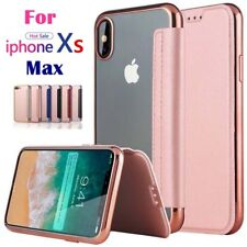 For iPhone Xs Max Xr X 8 7 6 Flip Clear Wallet Card Slot Pocket Clear Case Cover