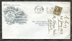 p620 - TORONTO 1919 IOOF Fraternal ILLUSTRATED Advertising Cover, Beaver