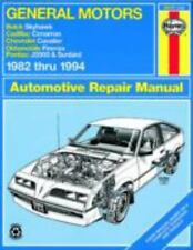 NEW - General Motors J-Cars Automotive Repair Manual: 1982 Through 1994