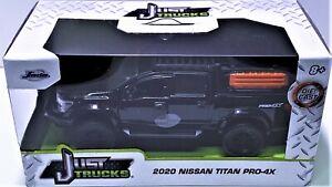 2021 Jada 2020 NISSAN TITAN PRO-4X PICKUP TRUCK 1:32 SCALE - Black Just Trucks