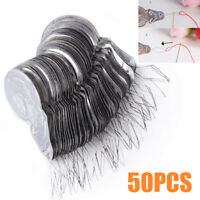 50X Bow Wire Needles Stitch Insert Tool Sewing Machines Aluminum Needle Threader