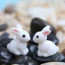10pcs Miniature Rabbit Ornament Figurine Bonsai Plant Pots Fairy Garden Decor