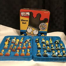 The Simpsons 3-D Chess Set (32) Pieces Only Collectible Tin 1998 !RARE!