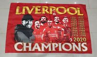 Liverpool Flag / Banner - Champions 2020 All Red - 3x2