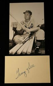 Vintage 1950s Playing Days George Kell Signed Index Card HOF D 2008 JSA Auth