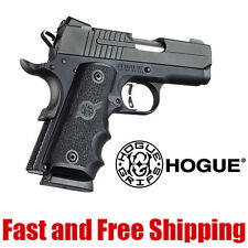 Hogue 1911 Officers Model Wrap Around Soft Rubber Grip w/Finger Grooves Black