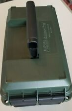 MTM Forest Green 50 Caliber Ammo Storage Can/Box Side Open Plastic Top handle