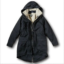 NWT Abercrombie&Fitch by Hollister Shearling Fur 3-In-1 Parka Coat Jacket Cotton
