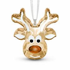 Swarovski Gingerbread Reindeer Ornament Mib #5533944