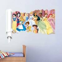 ALL Princess Wall Stickers Decor Cartoon Wall Paper Decals Poster For Kids Room