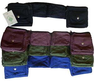 FAIR TRADE HIPPY BOHO COTTON TRAVEL PASSPORT BAG UTILITY HIP BELT ORGANIZER